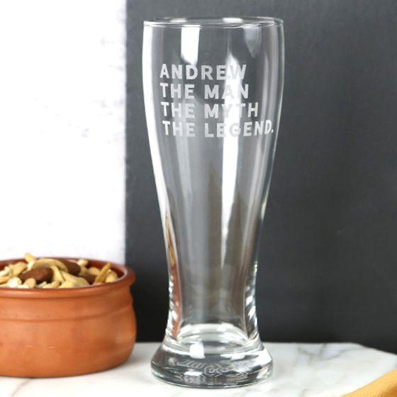 Engraved 425ml Beer Glasses
