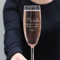 Engraved Retirement Champagne Glass
