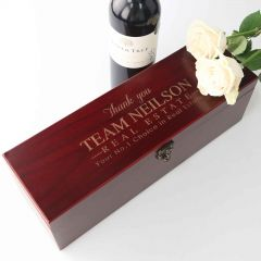 Customised Engraved Appreciation / Retirement Stained Wine Box
