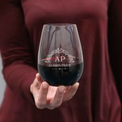 Personalised Engraved Appreciation / Retirement 460ml Stemless Wine Glass