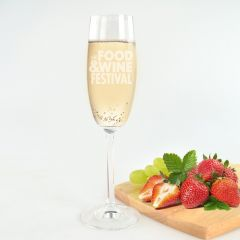 Engraved Promotional Champagne Glasses