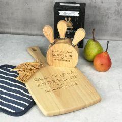 Cheese Paddle & Knife Block Set