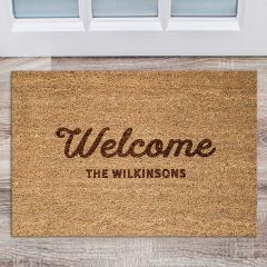 Personalised Engraved Inappropriate Welcome Door Mat