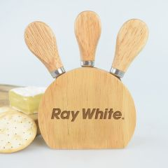 Engraved Promotional 3 Piece Cheese Set