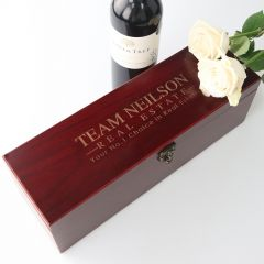 Engraved Promotional Stained Wine Gift Box Set